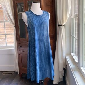 I.N. Blue Stretch Sleeveless Swing Dress, Size M